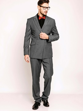 Notched Lapel Double-Breasted Men's Suits