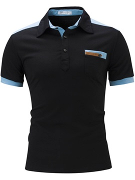Slim Patch Chest Pocket Men's Leisure Polos