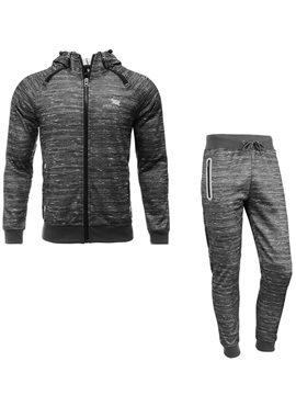 Lace-up Hooded Zipper Men's Sport Suit