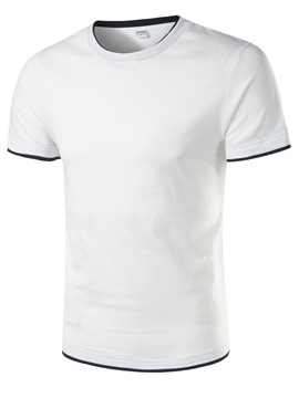 Simple Straight Short Sleeve Men's T-shirt