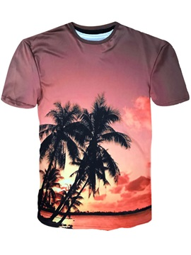 Palm Sunset Hawaii Style Men's Tee