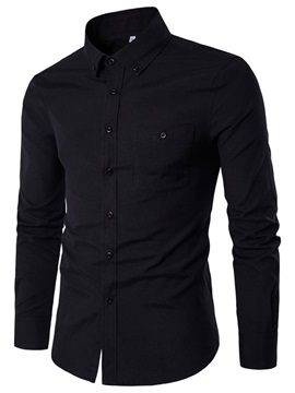 Slim Fit Pure Color Men's Casual Shirt