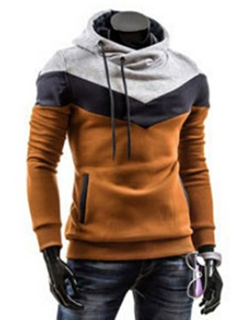 Hooded Cotton Blends Pullover Slim Men's Hoodie