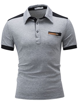 Lapel Cotton Blends Slim Men's Polo Shirt