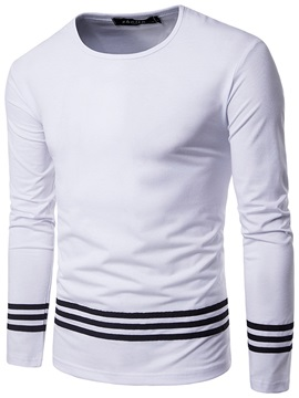 Simple Leisure Round Neck Long Sleeve Men's Tees