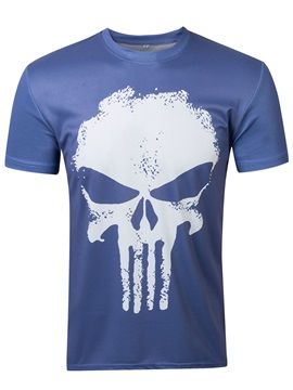 Round Neck Skull Loose Men's T-Shirt