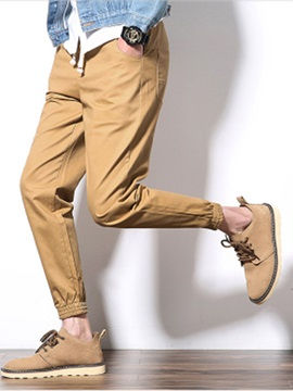 Simple Haren Ankle Banded Men's casual Pants