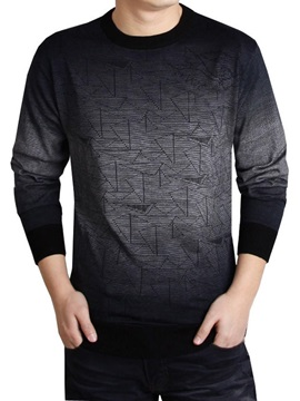 New Fashion Commerce Long Sleeve Thin Men's Sweater