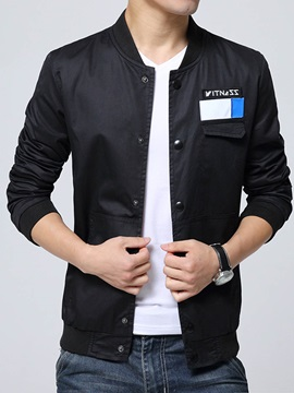 Stand Collar Slim Leisure Solid Color Men's Jackets