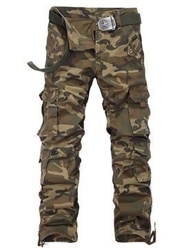 Camouflage Loose Pockets Leisure Men's Casual Pants