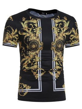 Print Short Sleeves Men' Tee