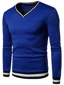 Tidebuy Long Sleeve V-Neck Slim Men's Pullover Hoodie