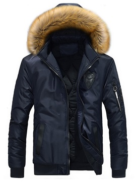 Hooded Solid Color  Warm Men's Winter Coat