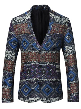 Tidebuy Lapel Ethnic Pattern Men's Blazer