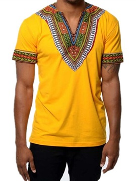Tidebuy African Dashiki Print Short Sleeve Men's T-Shirt