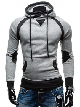 Tidebuy Hooded Lace-Up Slim Men's Pullover Hoodie
