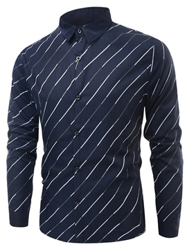 Tidebuy Lapel Stripe Men's Casual Shirt
