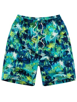 Tidebuy Swimming Floral Print Men's Beach Board Shorts
