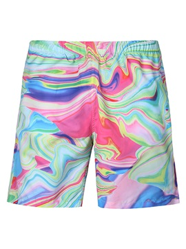 Tidebuy Gradient Print Men's Beach Board Shorts