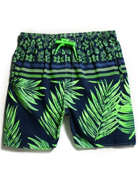 Tidebuy Plant Print Swimwear Men's Beach Board Shorts