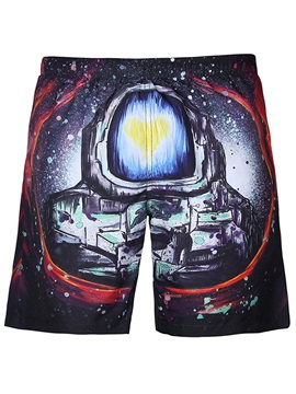 Tidebuy Cartoon Men's Beach Board Shorts With Mesh Lining