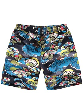 Tidebuy Quick Dry Floral Print Swim Trunks Men's Board Shorts