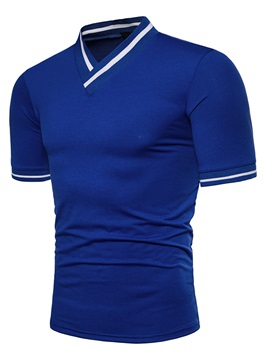 Tidebuy V-Neck Solid Color Men's T-Shirt