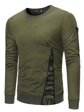 Tidebuy Unique Zipper Design Men's Long Sleeve T-Shirt