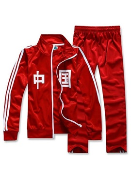Tidebuy Chinese Pirnt Men's Tracksuit Outfits