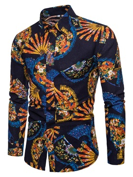 Tidebuy Ethnic Print Men's Long Sleeve Shirt