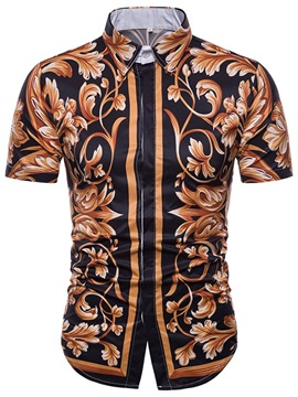 Tidebuy Stylish Floral Men's Short Sleeve Shirt
