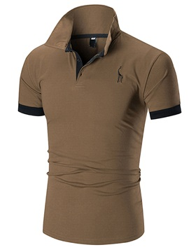 Tidebuy Summer Plain Short Sleeve Men's Slim Polo