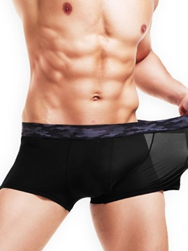 Breathable Seamless Super Thin Ice Silk Boxer Briefs for Men