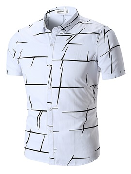 Tidebuy Irregular Print Men's Short Sleeve Shirt