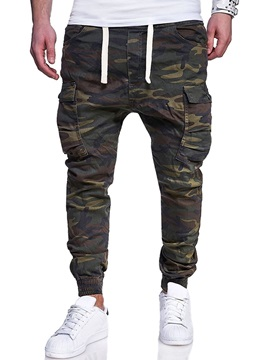Tidebuy Camo Pocket Lace-Up Men's Casual Pants