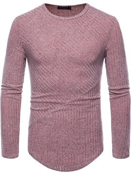 Tidebuy Long Sleeve Plain Men's Slim T-Shirt