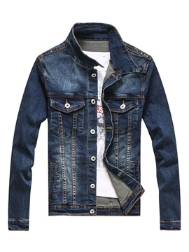 Tidebuy Thin Single-Breasted Men's Denim Jacket