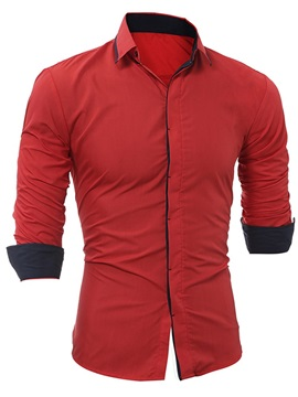 Tidebuy Solid Color Slim Men's Casual Shirt