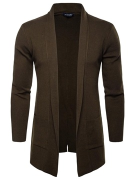 Tidebuy Mid-Length Solid Color Men's Cardigan Sweater
