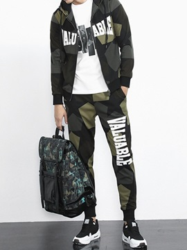 Sport Fashion Style Casual Letter Print Men's Outfit