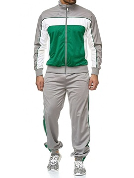 Patchwork Sports Style Color Block Men's Outfit