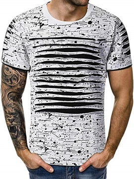 Casual Round Neck Short Sleeve Men's T-shirt
