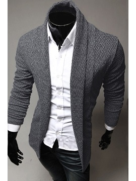 Lapel Long Sleeve Knitwear