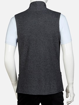 Stand Collar Sleeveless Men's Casual Vest