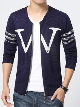 W-Printed Zipper Long Sleeve Men's Wolle Jacket
