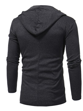 Solid Color Hooded Long Sleeve Slim Thin Men's Sweater