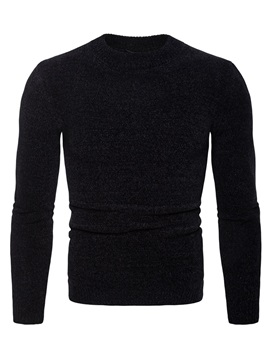 Tidebuy Round Neck Men's Plain Pullover Sweater