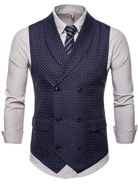Tidebuy Polka Dots England Style Classic Men's Vest