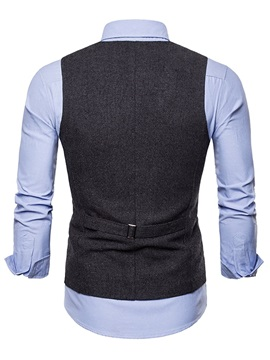 Single Breasted Men's Casual Dress Vest