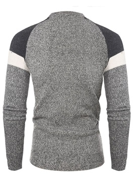 Pullover Color Block Patchwork Men's Sweater